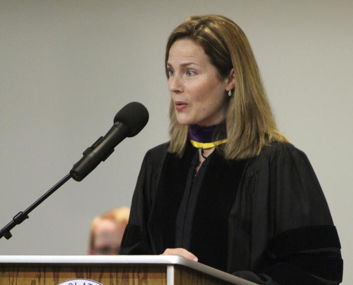 Then-University of Notre Dame law professor Amy Coney Barrett