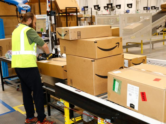 An Amazon fulfillment center processes orders in Aurora, Colorado, May 3, 2018