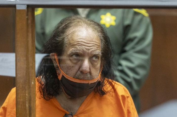 Adult film star Ron Jeremy appears for his arraignment on rape and sexual assault charges at Clara Shortridge Foltz Criminal Justice Center, on June 26, 2020, in Los Angeles.