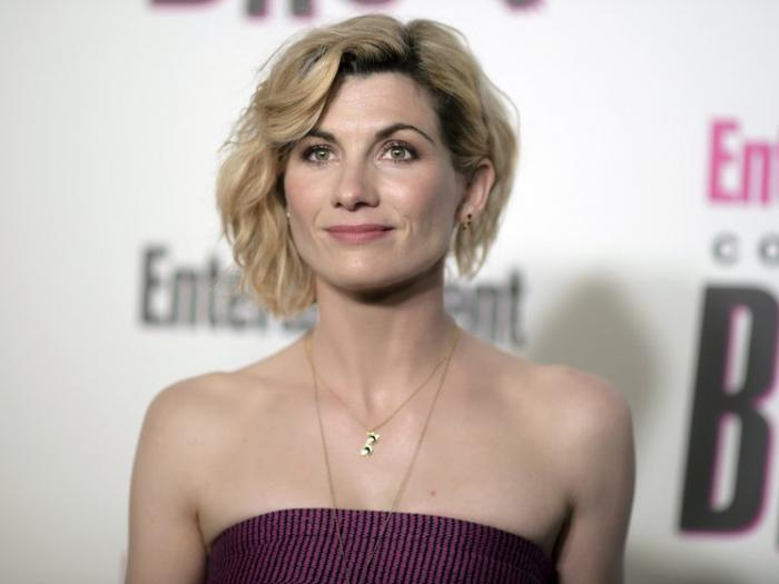 In this July 21, 2018 file photo, Jodie Whittaker attends the Entertainment Weekly Comic-Con Celebration in San Diego