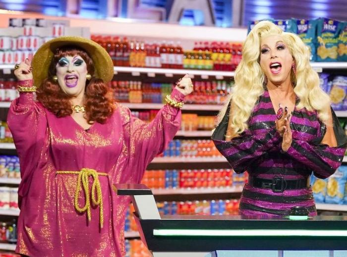 """Jackie Beat and Sherry Vine on """"Supermarket Sweep"""""""