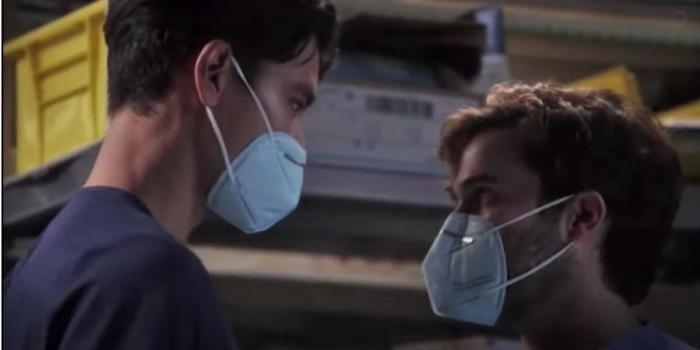 "Alex Landi and Jake Borelli on ""Grey's Anatomy"""
