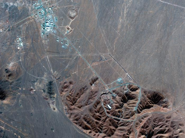 This Nov. 4, 2020, file satellite photo by Maxar Technologies shows Iran's Fordo nuclear site