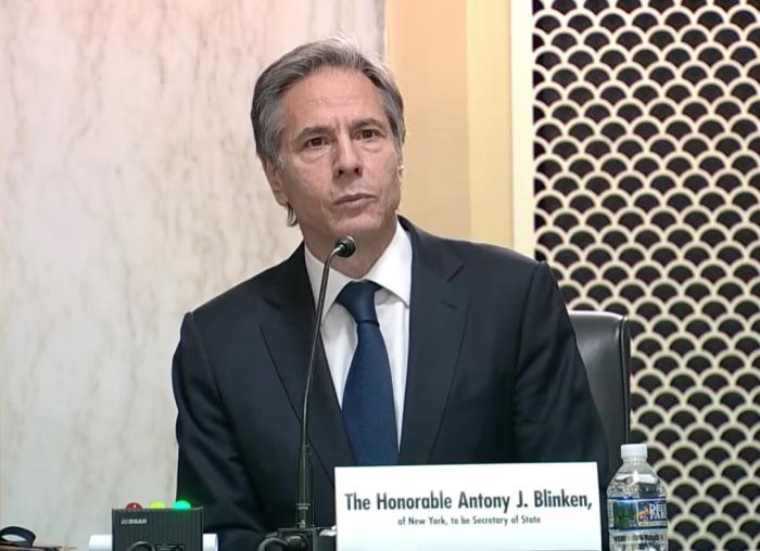 Antony Blinken during confirmation hearing on Jan. 19
