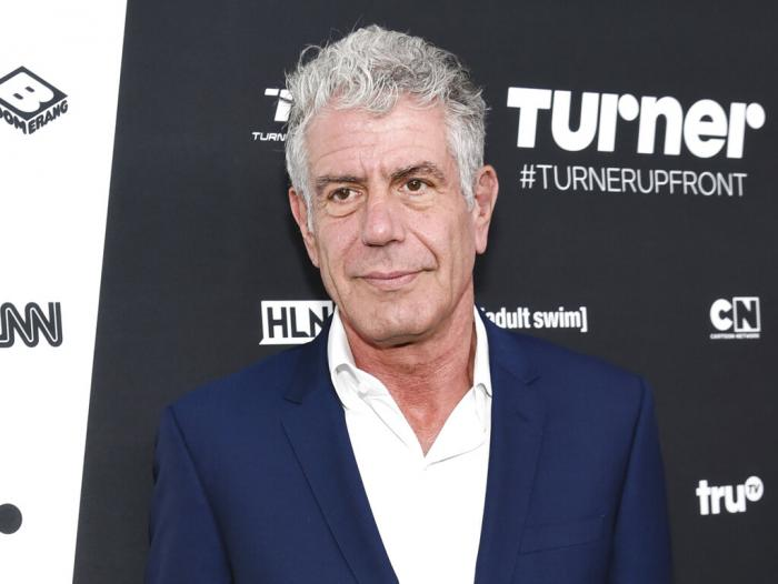 Anthony Bourdain attends the Turner Network 2016 Upfronts in New York on May 18, 2016.