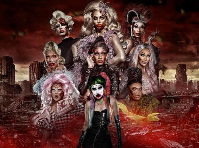 """A publicity graphic for the  """"10thAnniversaryNight of the Living Drag."""""""