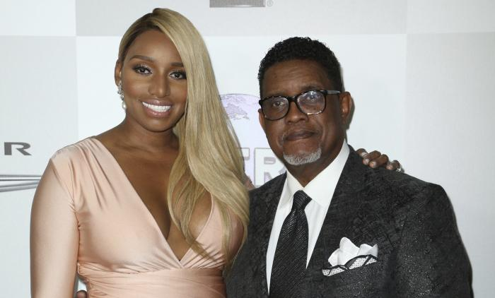 NeNe Leakes, left, and Gregg Leakes arrive at the NBCUniversal Golden Globes afterparty on Jan. 10, 2016, in Beverly Hills, Calif.