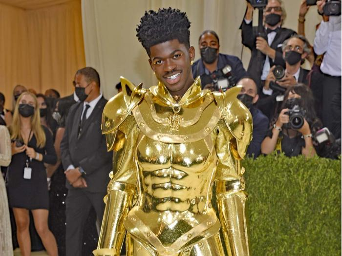 """Lil Nas X attends The Metropolitan Museum of Art's Costume Institute benefit gala celebrating the opening of the """"In America: A Lexicon of Fashion"""" exhibition on Monday, Sept. 13, 2021, in New York"""